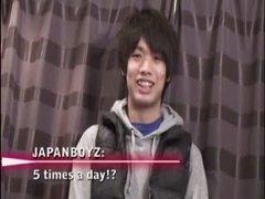 Straight Japanese Jock Jerks Off