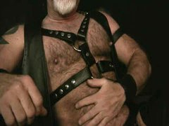 Watching Leather  Jerking Off