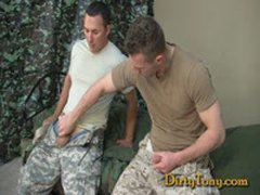 Two Marines Get Dirty