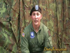 Military Officer Gets Dirty