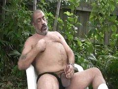 Joe Jerks His Fat Tool Outside