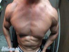 Boned Up BodyBuilder Bust Huge Load