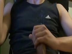 Spreading My Cumshot Over Myself