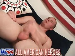 Redhead Sexy Corrections Officer Strokes His Big Meat