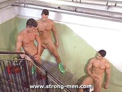 Three Big Bodybuilders