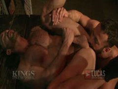 Muscled Hairy Studs Flip-Fuck!