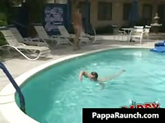 Extreme Homosexual Hard Core Poopshute Making Out At The Pool Homosexual Clip Four By PappaRaunch