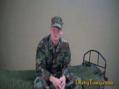 Military Uncut Ginger Cock