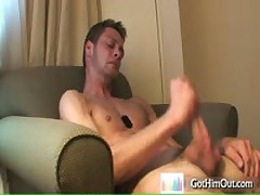 Guy Pulling And Cums In His Own Cute Face By Gothimout