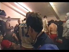 Rugby Guys Changing In Locker Room
