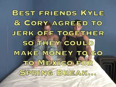 Straight Best Friends Jerk Off Together For Spring Break Money