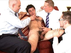 Daniel Milked By Clothed Men