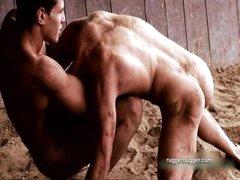 Nude Greco-Roman Wrestlers