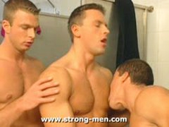 Threesome Of Euro Muscles