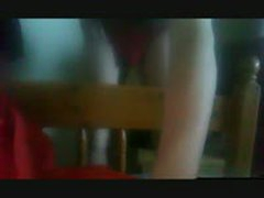 Young Boy Humps Bed In Red Thong And Cums