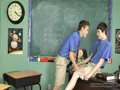 Boring Detention Leads To Hot Twink Fucking