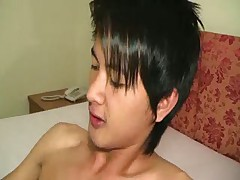Asian Twink Sucking His Friend