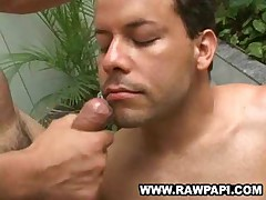 Dumping Cum On Gay Latin Face