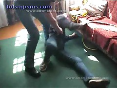 Master In Denim Style Play With Slave
