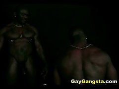 Threesome Interracial Gay Ass Pounding