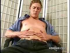 Sexy Blonde Stud Jerks Off