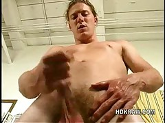 Sexy Blonde Stud Jerks Off