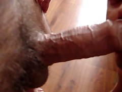 Sucking A Fat Cuban Uncut Cock