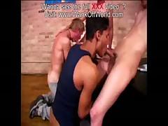 Double Duo Hung Cock Sucking