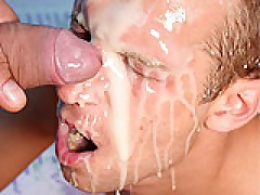 Gay Huge Facial Jizzload