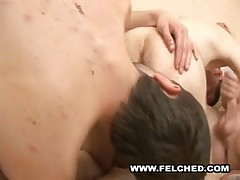Orgy Brokeback Ass Fucking And Cumswapping