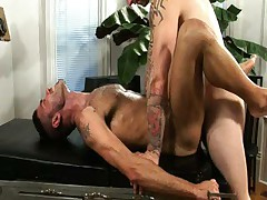 Dropping His HUGE COCK Into Gay Mouth And Ass