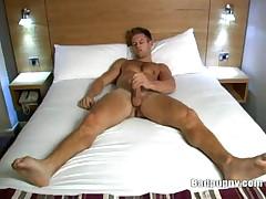 Porn Stud David Jones Jerks Off