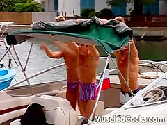 Boat Cock Sucking Threesome