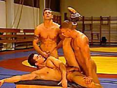 Gay Wrestling Threesome