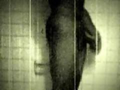 Black & White 8 Cut Jerking In The Shower..
