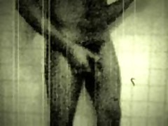 Black & White 8 Cut Jerking In The Shower..