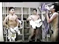 Men Showering