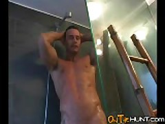 Argentine Rugby Player Showering