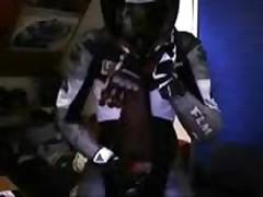 Leather Biker Cum