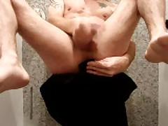 Self Fuck, Cum. Long Balls