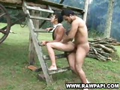 Latino Bareback Riding Gay Bottom