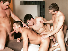 Julian Vincenzo Watches Glen Santoro, Joe Donovan, Jose Scott And Adam Kubick Fuck