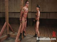 Master Van Finds Slave Finn Tied Up To A Pole...